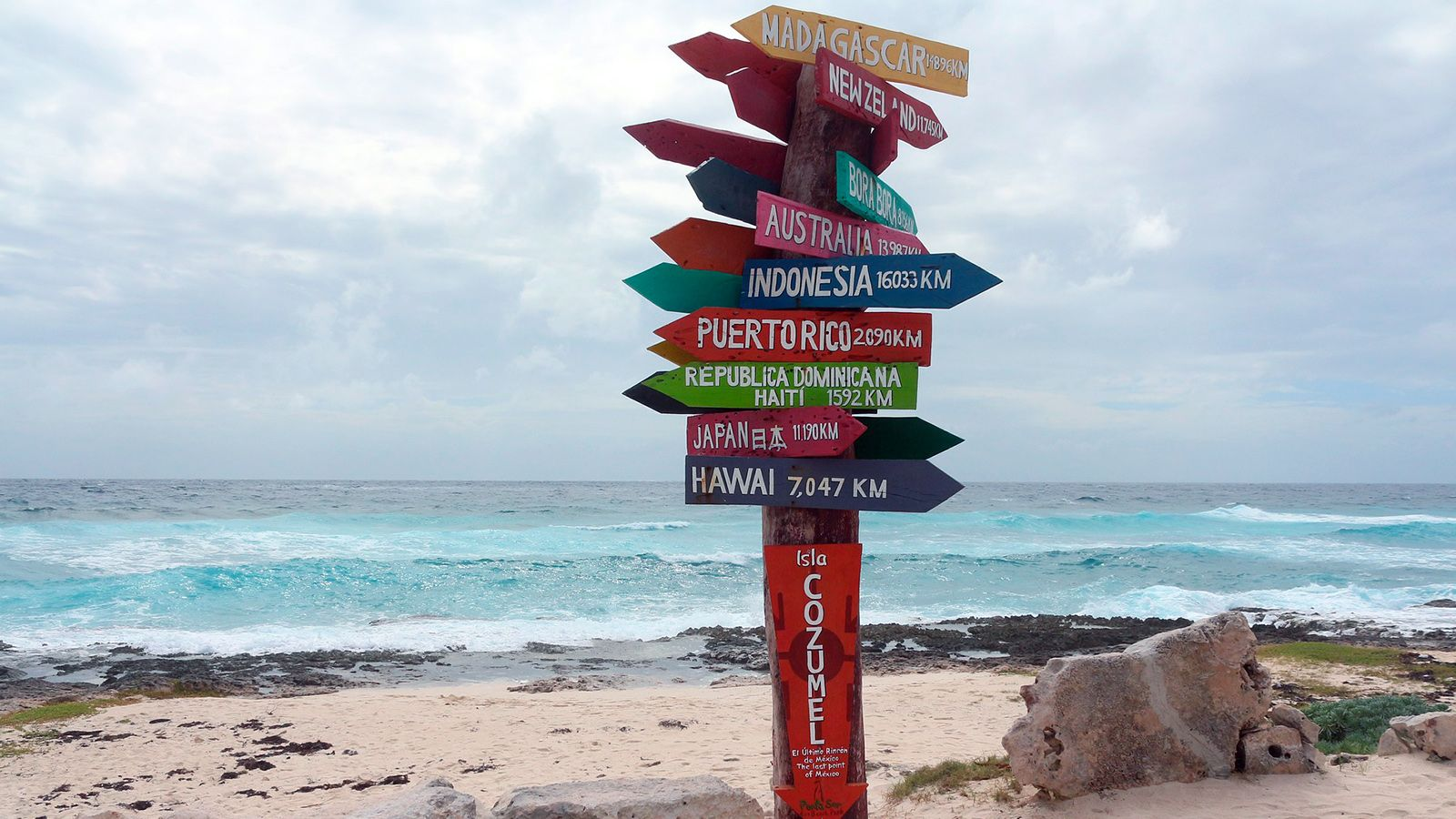 Main attractions in Cozumel, Mexico
